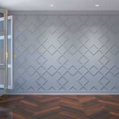 White Wall Paneling, Wall Trim, Trim For Walls, Modern Wall Paneling, Accent Walls In Living Room, Bedroom Accent Walls, Painted Accent Walls, Wall Panel Design, Pvc Wall Panels Designs