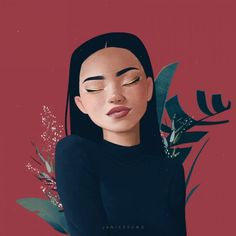 Inspirer de beaux portraits illustrés de Janice Sung - New Sites Digital Portrait, Portrait Art, Portraits Illustrés, Painting Portraits, Art Sketches, Art Drawings, Drawing Faces, Arte Sketchbook, Portrait Illustration