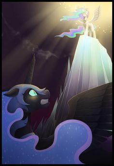 The Fall of Nightmare Moon by DancingInBlue.deviantart.com on @deviantART