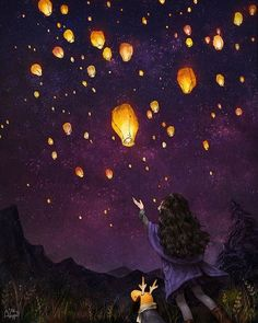 We sent our love to you our sweet boy into the night sky by lanterns light