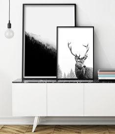 Deer Print Deer Antlers Art Print Scandinavian Print Stag Animal Print Black and White Print Affiche Scandinave Deer Head Stag Head Scandinavian Poster, Design Scandinavian, Scandi Art, Scandinavian Interiors, Deer Wall Art, Metal Tree Wall Art, Metal Art, Scandi Living Room, Living Rooms