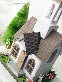 That's Life: Happily Ever After. Christmas Village Houses, Putz Houses, Christmas Villages, Christmas Home, Christmas Crafts, Decoration St Valentin, Paper Houses, Cardboard Houses, Tim Holtz Dies