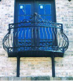 Wrought iron Balconies. Deciron's best seller! Iron dove queen balcony, wrought iron balcony at it's finest!