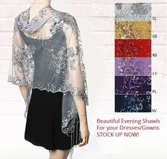 stunning silver eve wrap a treat at YE http://www.yourselegantly.com/dressy-evening-shawls.html/