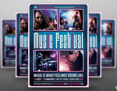 """Check out new work on my @Behance portfolio: """"Music Festival Flyer Template V15"""" http://be.net/gallery/38064141/Music-Festival-Flyer-Template-V15"""