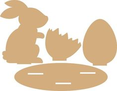 Noor! Design MDF Haas / ei / gebroken ei / onderstel 6200/0158 137x183/97,5x133/102x93/265x80 mm