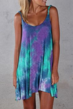 tie dye dress. zazumi.com