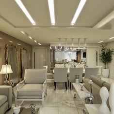 Decor Salteado - Blog de Decoração e Arquitetura : Apartamento com salas: de estar, jantar, tv e varanda decoradas com cores claras - lindo!