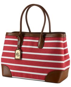 Lauren Ralph Lauren Fairfield Canvas City Tote - Tote Bags - Handbags & Accessories - Macy's