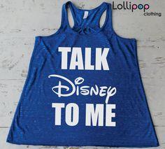 Talk Disney To me  Gym Workout Running Tank. by Lollipopclothing, $21.99