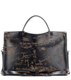 BALENCIAGA Blackout City printed leather cross-body bag