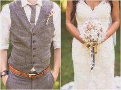 rustic vintage wedding Like his suit