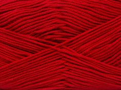 Baby Bamboo ~ Red (4 Balls per pack) Free Shipping 4 balls per bag- Not sold individually  Combining the softness and drape of bamboo with the durability of cotton, our beautiful Baby Bamboo yarn is great for year-round projects, such as clothing and baby items.  Fiber Content:  50% Bamboo, 50% Cotton