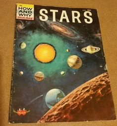 1960's Vintage - The How and Why Wonder Illustrated Book of Stars, 1st Printing
