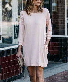 Love this Amaryllis Pink Pocket Shift Dress by Amaryllis on #zulily! #zulilyfinds