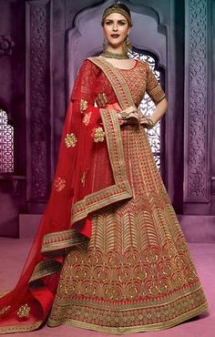 Red Lehenga Choli Designs For Wedding With Price ,Indian Dresses - 2