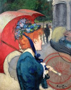 Woman with Umbrella, 1890