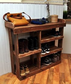 pallets shoe rack