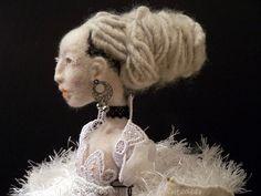 Snow a needle felted art doll by feltoohlala on Etsy, $800.00 ☆