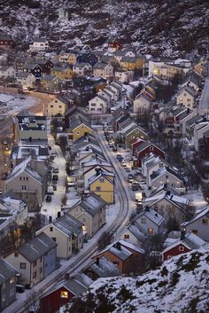 """Hammerfest - Often called """"the northernmost town in the world"""". At north, Hammerfest is an Arctic town that's full of life.{allthingseurope: """"Hammerfest, Norway (by Philip Arthur LRPS) """"} Oslo, Alesund, Lofoten, Travel Around The World, Around The Worlds, Places To Travel, Places To Visit, Norway Viking, Beautiful Norway"""