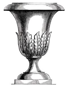 Free Vintage Clip Art - Lovely Garden Urns - The Graphics Fairy