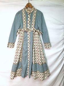 GUNNE SAX by JESSICA Vintage 70's Prairie Dress Juniors Size 5 Missing Button
