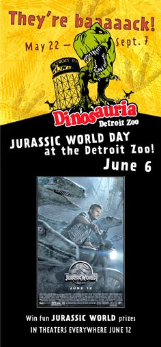Mommy's Favorite Things: Jurassic World Day at the Detroit Zoo #DetroitZoo #Dinosauria