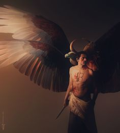 Castiel by euclase Supernatural Fan Art, Castiel, Crowley, Male Angels, Bible Illustrations, Ange Demon, Super Natural, Cultura Pop, Male Face
