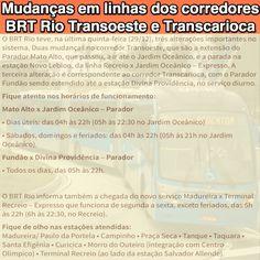 Mudanças em linhas dos corredores do BRT Rio Transoeste e Transcarioca [Moovit] http://moovitapp.com/info/mudancas-em-linhas-dos-corredores-transoeste-e-transcarioca ②⓪①⑦ ⓪① ⓪⑥