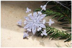 Schon Baumschmuck Schneeflocke Weihnachtsstern Weiß Deko Von Liebeabies Auf  DaWanda.com