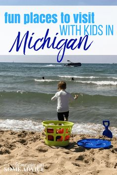 A roundup of fun places to visit in Michigan with kids. The best Michigan family getaway ideas from family travel experts for parents who want to explore Michigan with there kids. From Michigan weekend getaway ideas to summer fun at Lake Michigan, you won't want to miss these unique ways to vacation in Michigan.