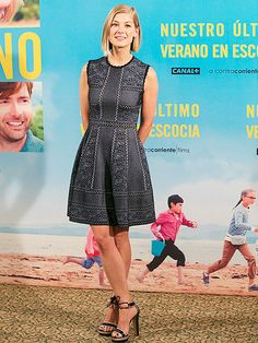 Star Tracks: Friday, May 1, 2015 | ON HOLIDAY | Rosamund Pike takes her chic style abroad as she attends a photo call for her film What We Did On Our Holiday on Thursday in Madrid, Spain.