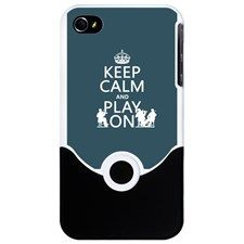 Keep Calm and Play On (strings) iPhone Case