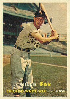 Nellie Fox 1957 Second Base - Chicago White Sox Card Number: 38 White Sox Baseball, Baseball Star, Baseball Photos, Sports Photos, Baseball Players, Baseball Card Values, Baseball Cards, Oakland Athletics, St Louis Cardinals