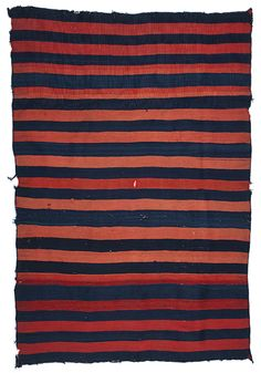 1875 banded navajo serape with indigo and cochineal Textiles, Textile Patterns, Textile Art, Navajo Weaving, Navajo Rugs, Native American Art, American Indians, Indian Blankets, Magic Carpet