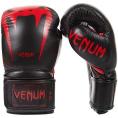 Venum Giant 3.0 Boxing Gloves - Velcro - Black/Red