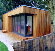 Garden Buildings For Work, Rest & Play Backyard Studio, Backyard Patio, Garden Bedroom, Garden Office, Garden Buildings, Bedroom Office, Tiny Houses, Building Design, Man Cave