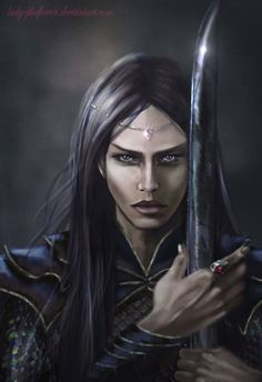 Maeglin/Lomion and the black sword Anguirel, the second sword forged by Eol the Dark Elf in Nan Elmothn