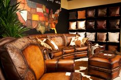 Eleanor Rigby Leather Company Sofa available at the Western Home & Design Center