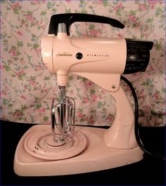 Vintage Sunbeam Mixmaster pink Model 12 Electric Stand Mixer