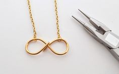Create your own infinity necklace with this tutorial.