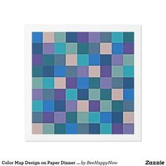 Color Map Design on Paper Dinner Napkins