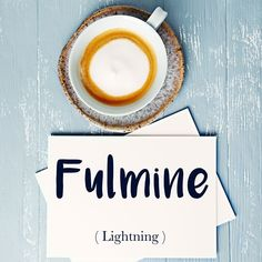 Parola del giorno / Word of the day: Fulmine (lightning). Sono stato travolto da un grosso temporale con tuoni e fulmini. = I got caught in a big thunderstorm with thunder and lightning. Learn more about this word and see example phrases by visiting our website! #italian #italiano #italianlanguage #italianlessons