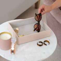 Stackers | Classic Chunky Jewellery Layers Jewellery Boxes, Jewellery Storage, Jewelry Box, Chunky Jewelry, Layered Jewelry, Velvet Material, Blushes, Jewelry Collection, Sunglasses Case