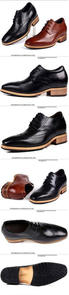 Korean men tide elevator business shoes be taller 8cm / 3.15inches
