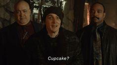 Who's hungry? Oswald Cobblepot, Penguin, Gotham TV, cupcake?