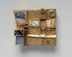 Hermann Jünger - Brooch (1969). Gold, emerald, sapphire, opal, chalcedon, achat, enamel.
