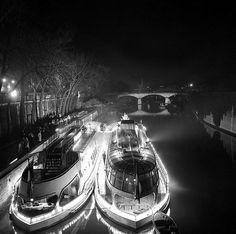 Bateaux-mouches on the Seine Paris Serge de Sazo (1915-2012)