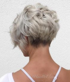 Ash Blonde Curly Pixie Bob