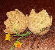 skorupki jaj Easter Crochet, Crochet Gifts, Filet Crochet, Easter Eggs, Projects To Try, Romantic, Ornaments, Knitting, Holiday